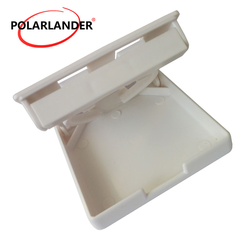 White Plastic Folding Drink Holder with Adjustable Arms for Boats