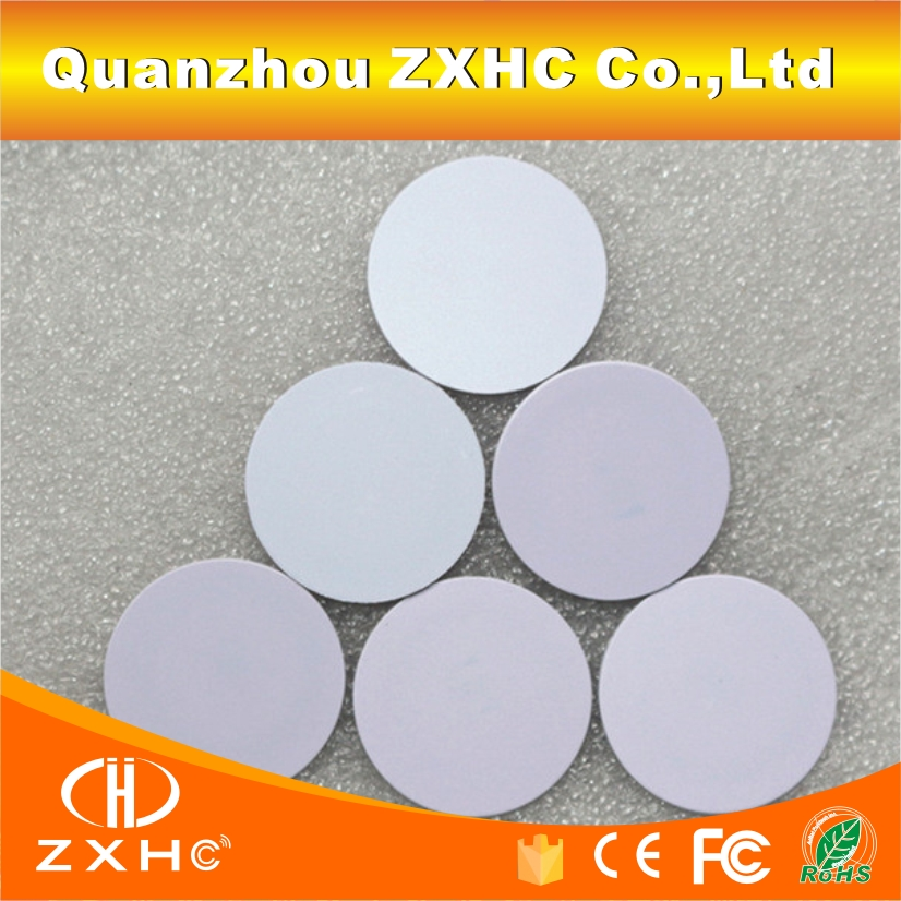 (10PCS/LOT) 13.56Mhz FM1108(M1 S50) 25mmx1m Waterproof Tags RFID Smart PVC Coins Cards