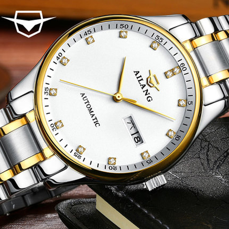 AILANG top brand watches Mens luxury mens full automatic steel business mens sports watch waterproof Relogio HotelAILANG top brand watches Mens luxury mens full automatic steel business mens sports watch waterproof Relogio Hotel