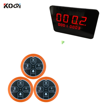 Wireless Call System Restaurant With Receiver Electronic Number Display Transmitter Table Call buzzer (1 screen + 30 button)
