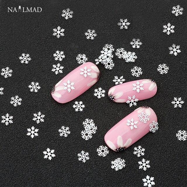 Aliexpress Buy 1box Mixed Snowflake Nail Glitters White