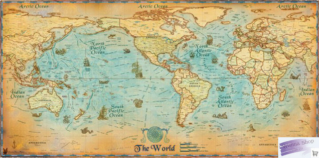 11055cm ancient global map living room decorative painting cloth 11055cm ancient global map living room decorative painting cloth map europe united states style gumiabroncs Image collections