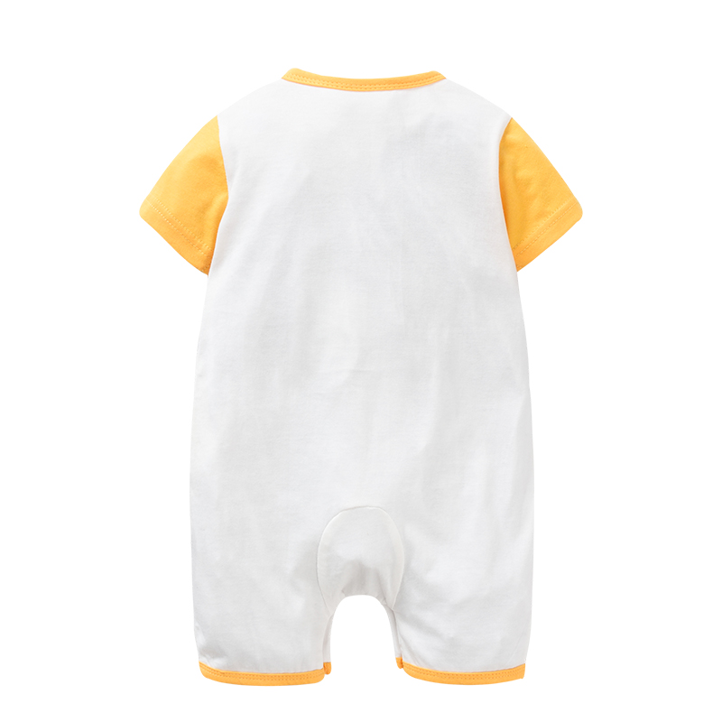 01cb143d4ce Double-sided cotton Baby O-neck Rompers Clothing Printed embroidery Lion  giraffe short Sleeve Jumpsuit Infant Product Set Summer