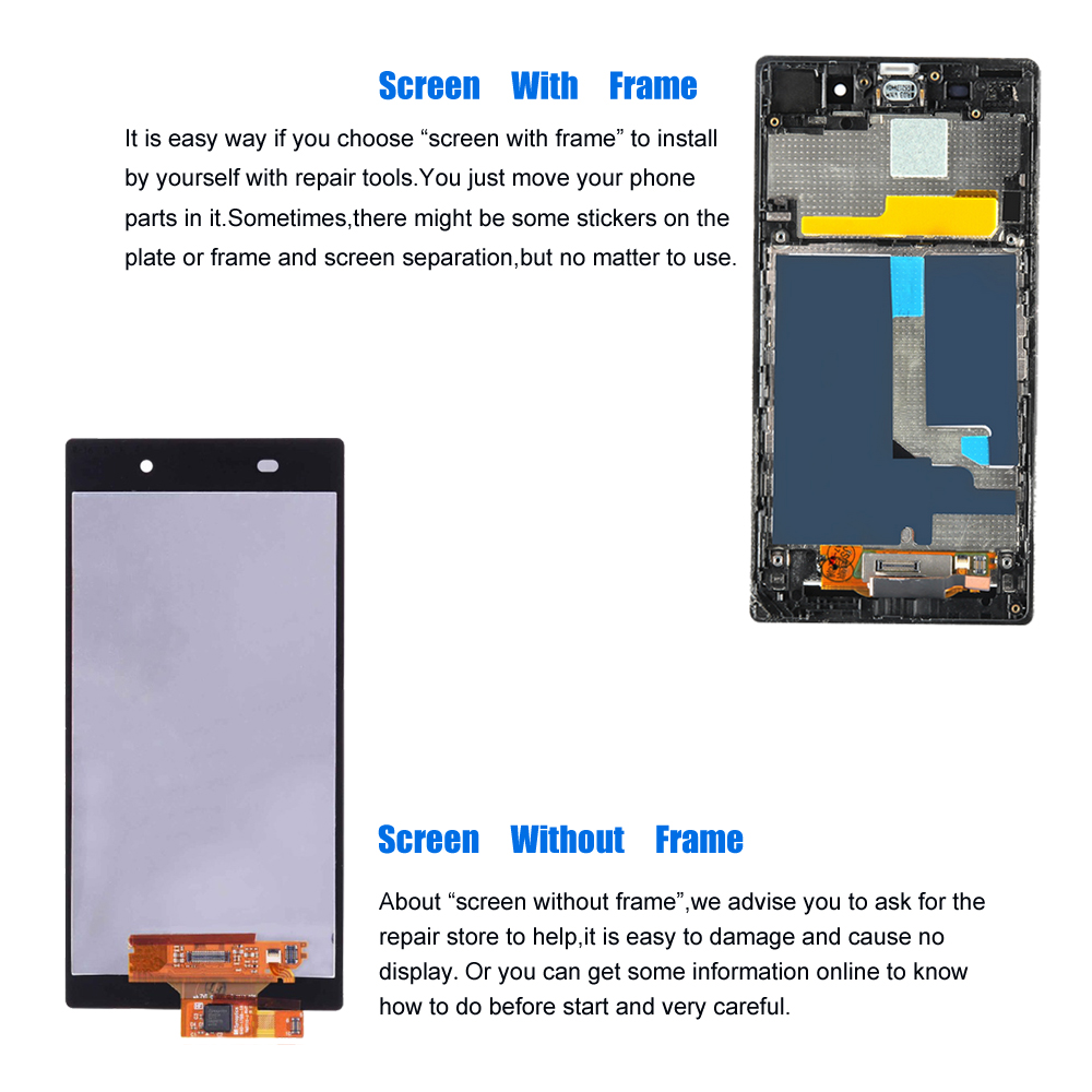 5 0'' LCD Replacement for Sony Xperia Z1 L39h C6902 C6903 C6906 C6943 Touch  Screen Digitizer Assembly for Sony Xperia Z1 Display