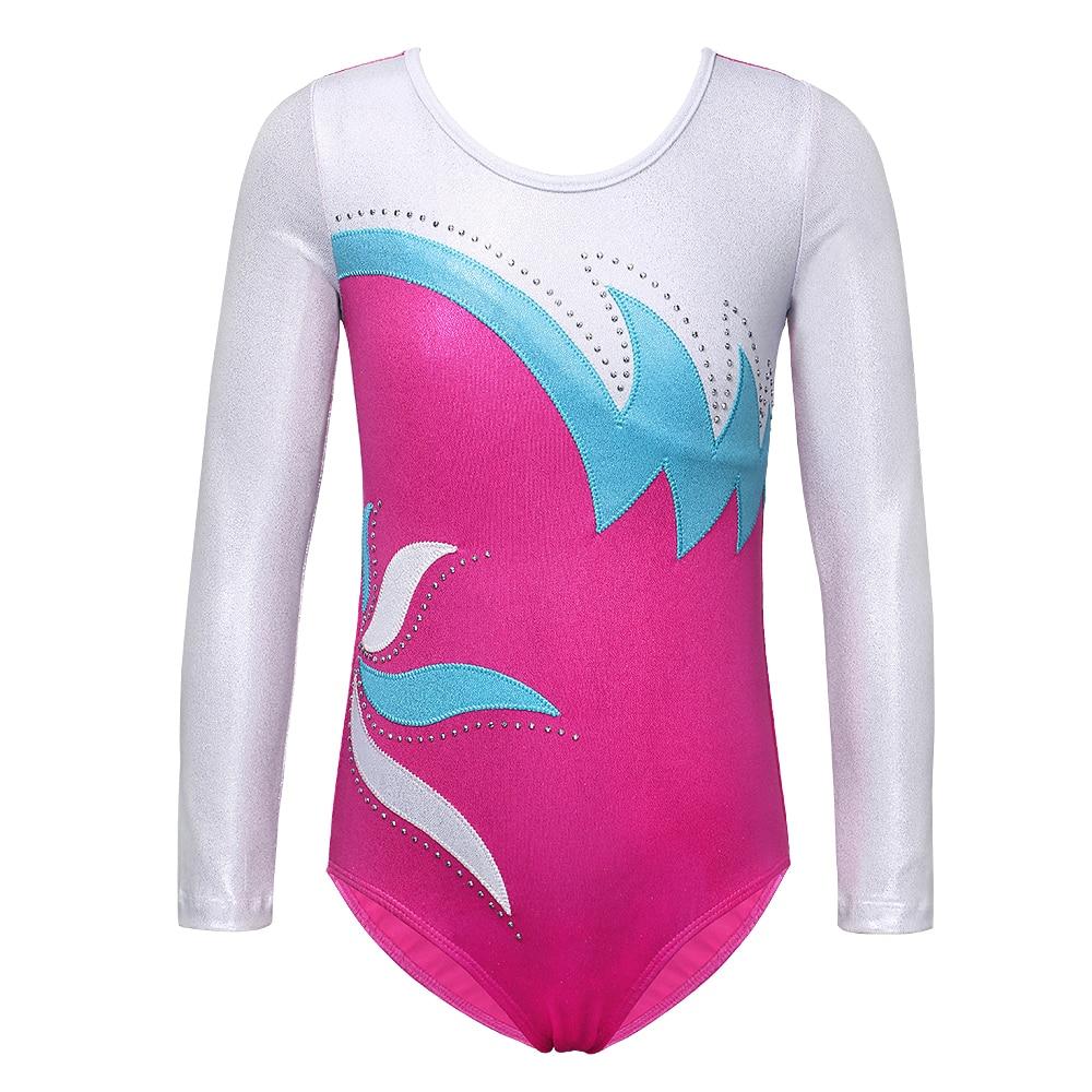 BAOHULU Ballet Leotard Long Sleeve Toddler Girls Ballet Dress One-Piece Gymnastics Leotard For Kids Performance Costumes