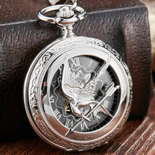 Retro Vintage Hollow The Hunger Games Mockingjay Mockingbird Quartz Pocket Watch Necklace Chain Fashion Silver relogio de bolso vintage silver golden grandpa pocket watch the greatest grandpa gift box set waist chain fob quartz men watch relogio de bolso