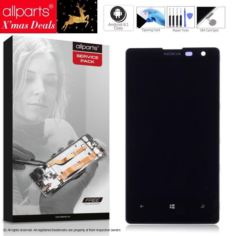 4.5 Оригинальный тачскрин дисплей экран для NOKIA Lumia 1020 сенсорный дисплей Оригинал LCD с тачскрином в рамке замена запчасти 1020 Черный