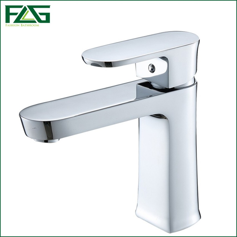 ФОТО Cool Beautiful Water Faucet Bath Mat Chrome Faucet Ceramic Valve Deck Mounted  Dropshipping Cold & Hot Faucet Bathroom FLG100015