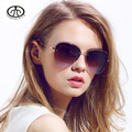 European and American retro frameless yurt Ms. UV sunglasses large frame sunglasses for men and women the same paragraph 6820