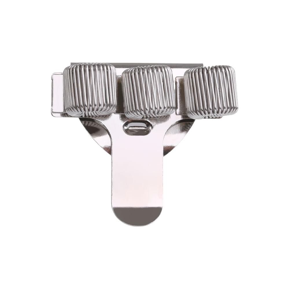 1 предмет одноместный/двухместный/тройной отверстие металлическая пружина для ручек держатель с зажимом для кармана врач-медсестра форма подставки для ручек, офисные и школьные принадлежности - Цвет: 3