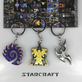 2017 New Arrives StarCraft Keychain Wings of Liberty Terran Zerg And Protoss Metal Key Chain Key Holder Jewelry Theme Starcraft