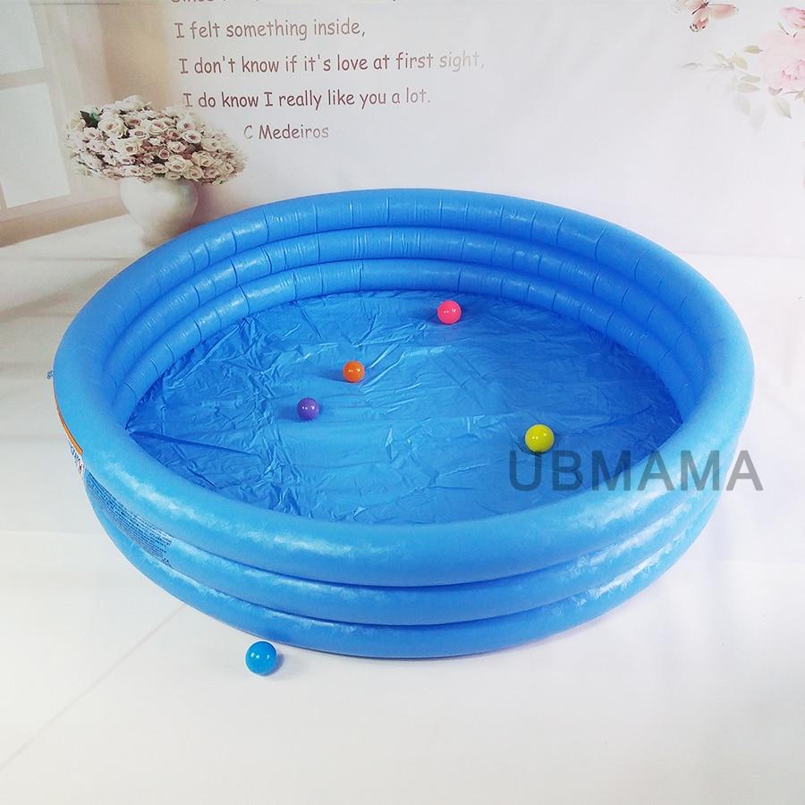 Grande piscine bleu solide enfants piscines 168*41 CM bébé gonflable rond Piscina Infanti pour adultes pataugeoire