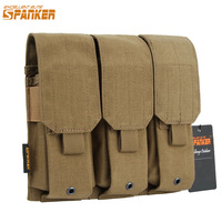 EXCELLENT ELITE SPANKER Tactical Triple M4 Magazine Pouch Hunting EDC Outdoor Hunting Magazine Clip Cartridge Bag Accessories