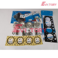 D4D בוכנה + טבעת מלא מנוע אטם BEARING עבור וולוו EC140B|piston ring set|piston setpiston ring -