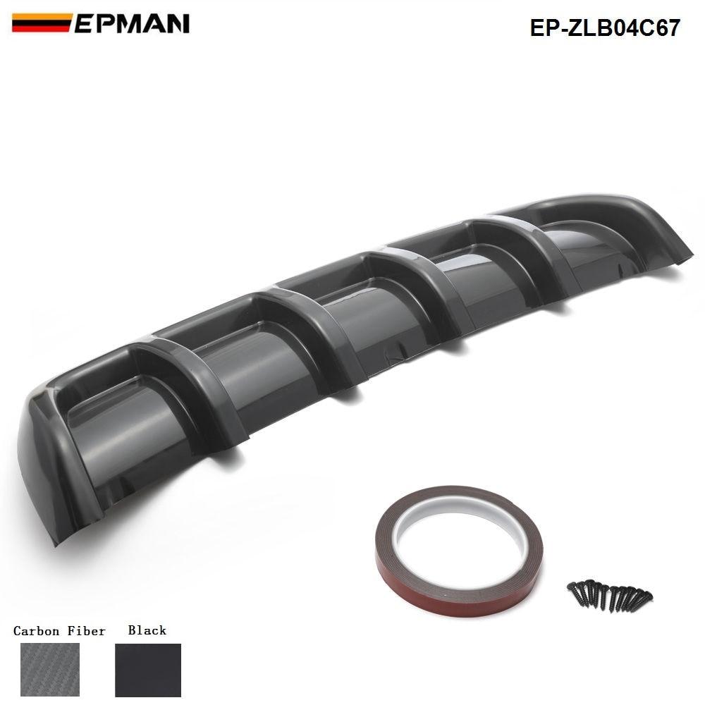 EPMAN - Car Rear Bumper Body Kit Shark Chin Spoiler Diffuser Trim Cover Universal EP-ZLB04C67