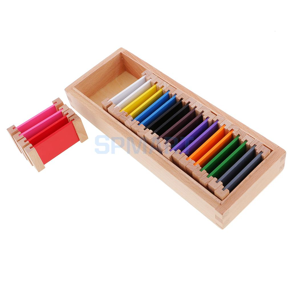 Montessori 11Pcs Colored Pencil Holder Color Box for Kids Early Developing
