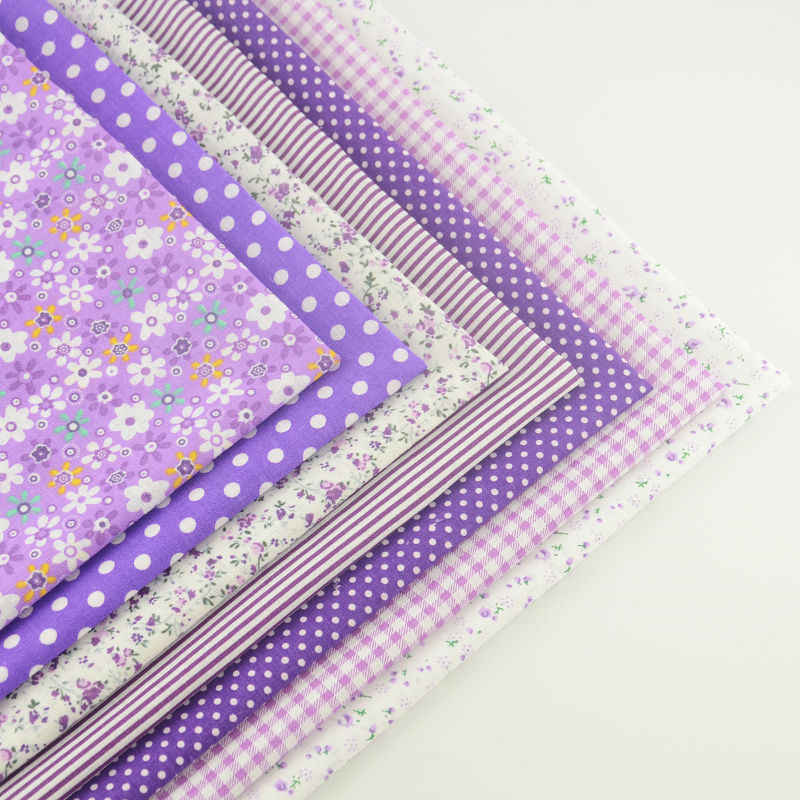 Fat Quarter Purple Color Home Decoration Romantice Flowers Style Plain Fabric 100% Cotton Fabric Bundles Scrapbooking Tissu Tela