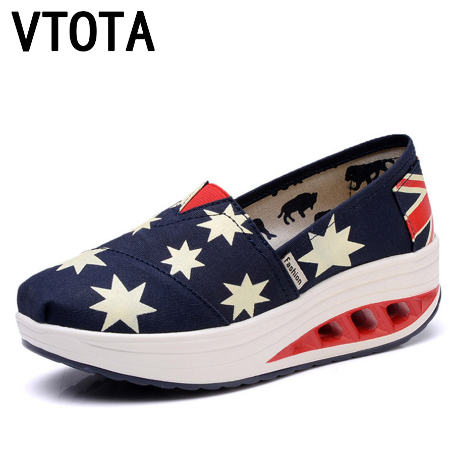 VTOTA Slip On Shoes For Women Loafers Spring Summer Casual Flat Platform Shoes zapatos mujer Moccasins Canvas Shoes Women G16 cresfimix zapatos women cute flat shoes lady spring and summer pu leather flats female casual soft comfortable slip on shoes