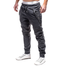 2018 Brand Men Pants Hip Hop Harem Joggers autumn Male Casual Elastic Trousers Mens Solid Zipper decoration