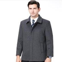 купить Weight 100 Kg Man Cashmere business Clothing Winter Woolen coat Cotton Wool Fashion Male Pure Color Casual Business Short Jacket по цене 4652.97 рублей