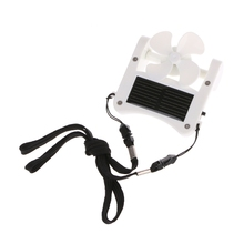 Free_on 1PC Mini Solar Power/USB Portable Cap Hat Clip On Fan Hanging Desktop Camping Cooler