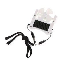 Free_on 1PC Mini Solar Power/USB Portable Cap Hat Clip On Fan Hanging Desktop Camping Cooler