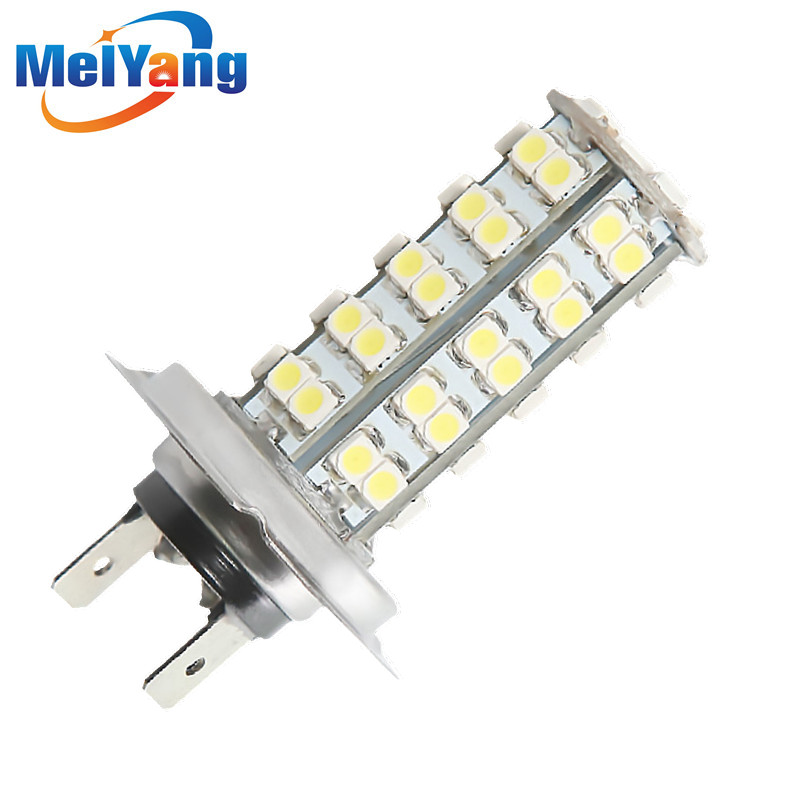 ᓂH7 68 SMD White Fog Signal Tail Driving LED Lamp Bulb Auto Head ...