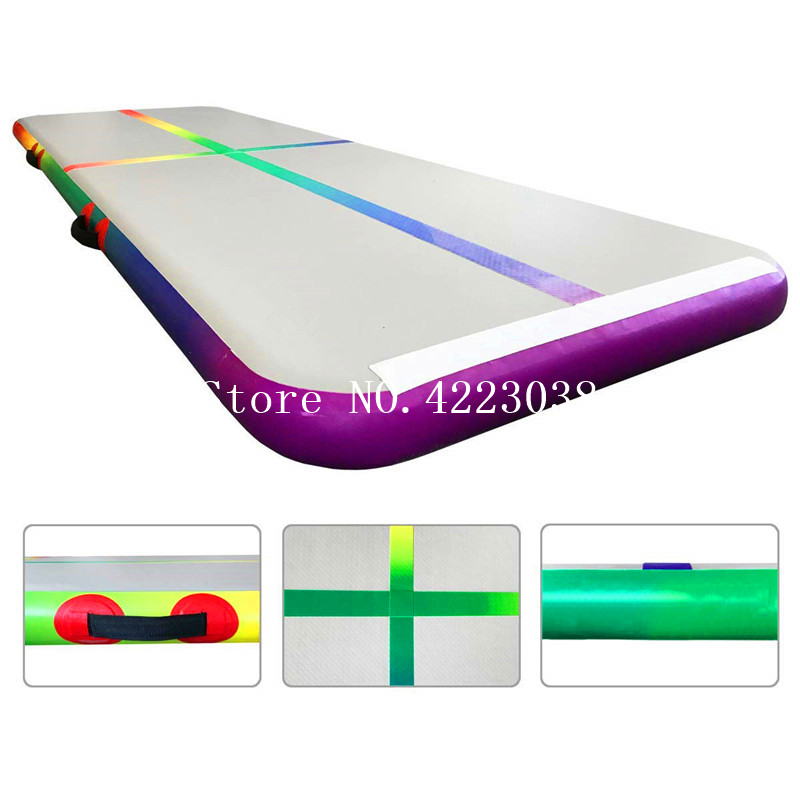 Free Shipping 3*1*0.2m Rainbow Inflatable Air Track Mat Gymnastics Tumbling Mat Air Floor with Electric Air PumpFree Shipping 3*1*0.2m Rainbow Inflatable Air Track Mat Gymnastics Tumbling Mat Air Floor with Electric Air Pump