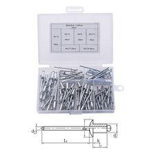 120Pcs/set M3.2*7/9/11 M4*8/10/13 GB12618 Aluminium Blind Rivets Nail Decoration Pop Rivets For Furniture Assortment Kit