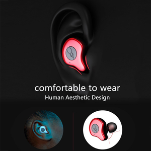 Image 3 - Draadloze Bluetooth Oortelefoon Stereo Sport Waterdichte Oordopjes in ear Met Mic
