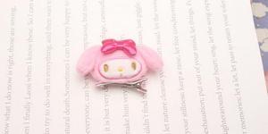 Image 4 - 1 Máy Tính Đáng Yêu Phim Hoạt Hình Nhật Bản Giai Điệu Pudding Cinnamoroll Chó Búp Bê Sang Trọng Tóc Dây Sang Trọng Đồ Chơi Kẹp Tóc Búp Bê Cho Bé Gái Kid quà Tặng