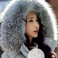 Real Raccoon Fur Collar Womens 100% Natural Fur Gray Collar Real Fur Shawl Raccoon collar Fur Scraves L#37