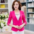 Spring Autumn Women Slim Blazer Coat 2017 New Fashion Casual Jacket Long Sleeve One Button Suit Ladies Blazers Work Wear C211