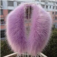 High Quality Winter Coat Collar Decor Faux Fur Shawl Hat Decor Faux Fox Fur Scarf Fuax