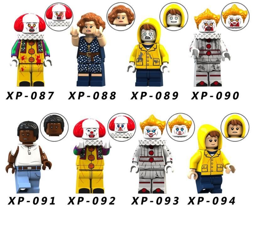 8pcs The Walking Dead Clown/Raincoat Zombie Rescuers Minifigured Building Blocks Figure Bricks Compatible With Bela
