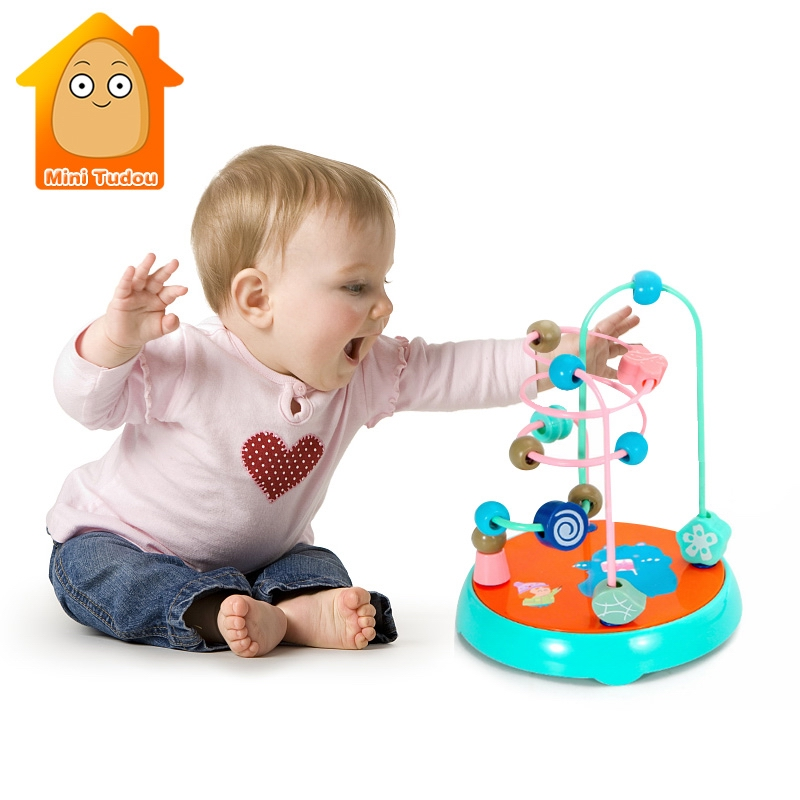 6 Month Baby Toys ToT Beads Toy For Baby Kids Colorful Around Beads Maze Math Toy Toddler Educational Model