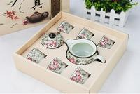 \ La série En Céramique thé ensembles de emballé des cadeaux théières couvert de mariage cadeaux de pendaison de crémaillère d'affaires ensembles de thé avec cadeau boîte