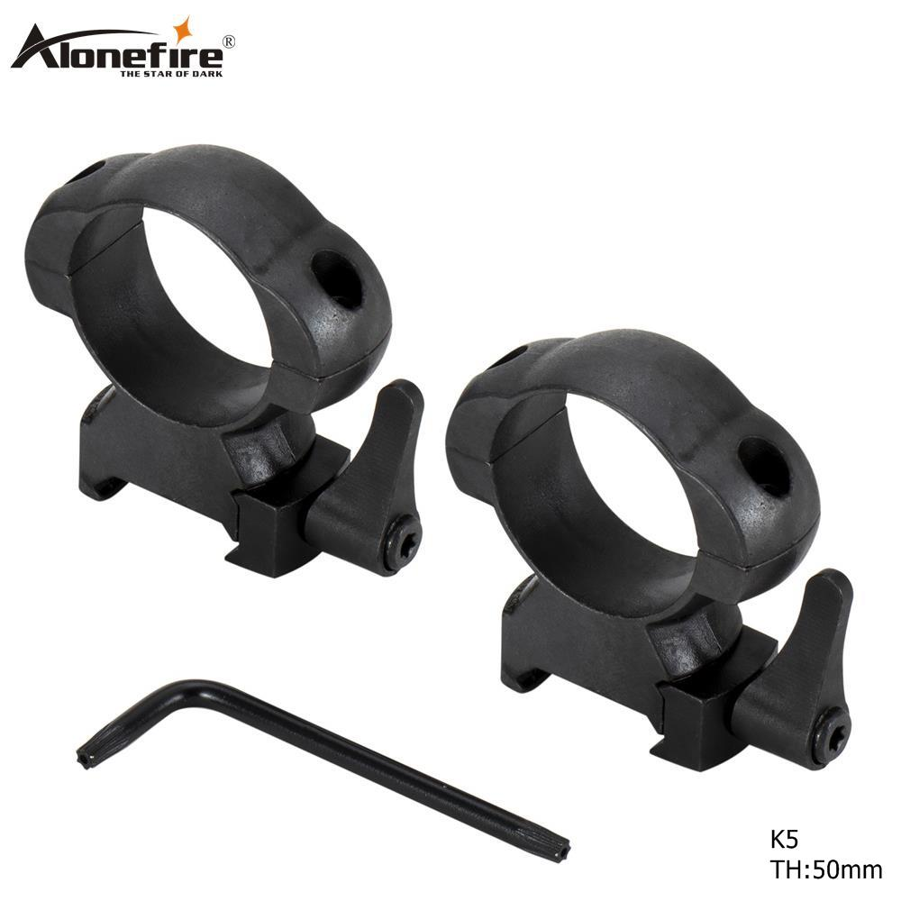 AloneFire K5 30mm Diameter Steel Quick Release Picatinny Weaver High Profile Hunting Scope Rings Tactical Mounts Rings