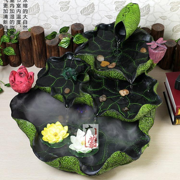 loto loto creativa fuente de agua bonsai decoracin moda muebles para el hogar decoracin interior ronda