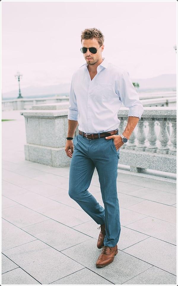 High Quality Blue Dress Pants for Men-Buy Cheap Blue Dress Pants ...