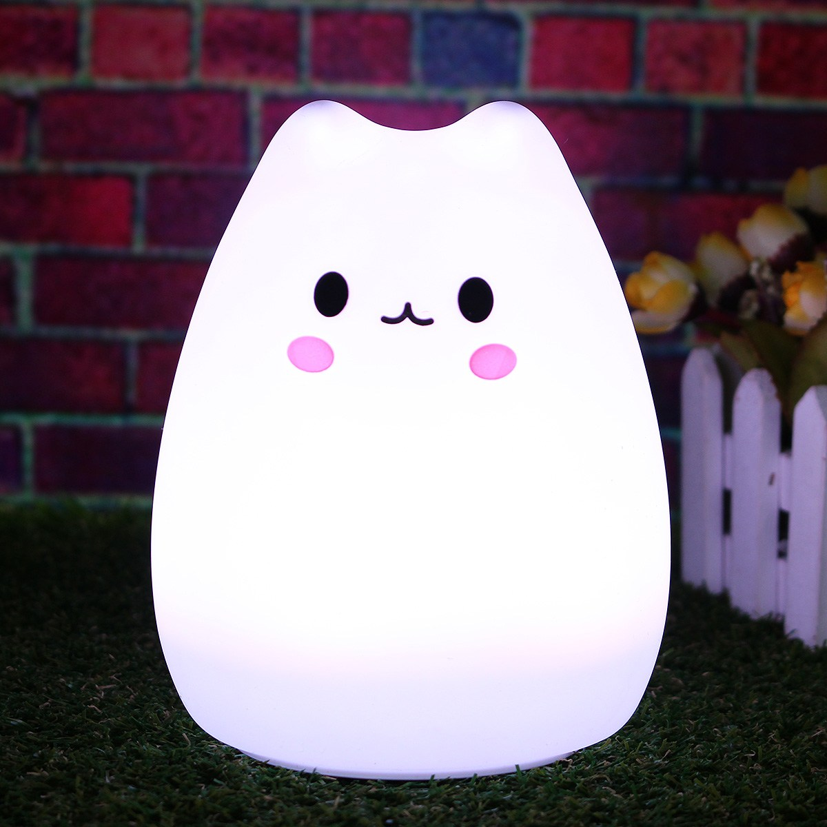 3 Style LED Colorful Silicone Animal USB Rechargeable Power Cat Night Light Remote Control Table Lamp Bedroom Children Gift led remote control colorful eggs rechargeable bar table lamp ktv night club light dimming color led night light free shipping