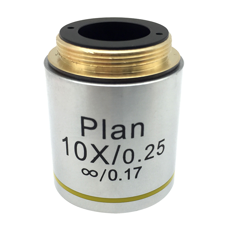 10x L=195 Infinity Plan DIN Infinity 0.17 Achromatic Objective Lens for Biological Microscope 195 universal 1x infinity objective lens for biological microscope