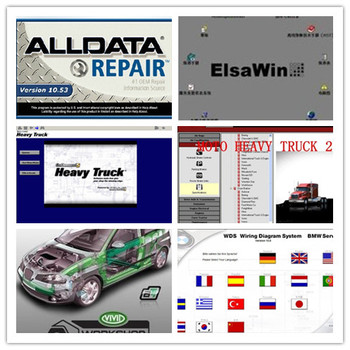 alldata 10.53 + mitchell manuals on demand price best + heavy truck repair software+elsawin 5.2 for audi for vw  hdd 1tb