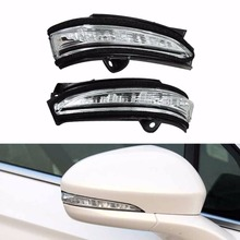 2 ШТ. Правой и Свет LED Заднего Вида Боковое Зеркало Лампа Зеркало Заднего Вида Автомобиля Сигнал Поворота свет для Ford Mondeo 2013-2014 2015 2016