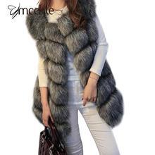 2016 winter font b coat b font women faux fox fur vest brand shitsuke fuorrure femme