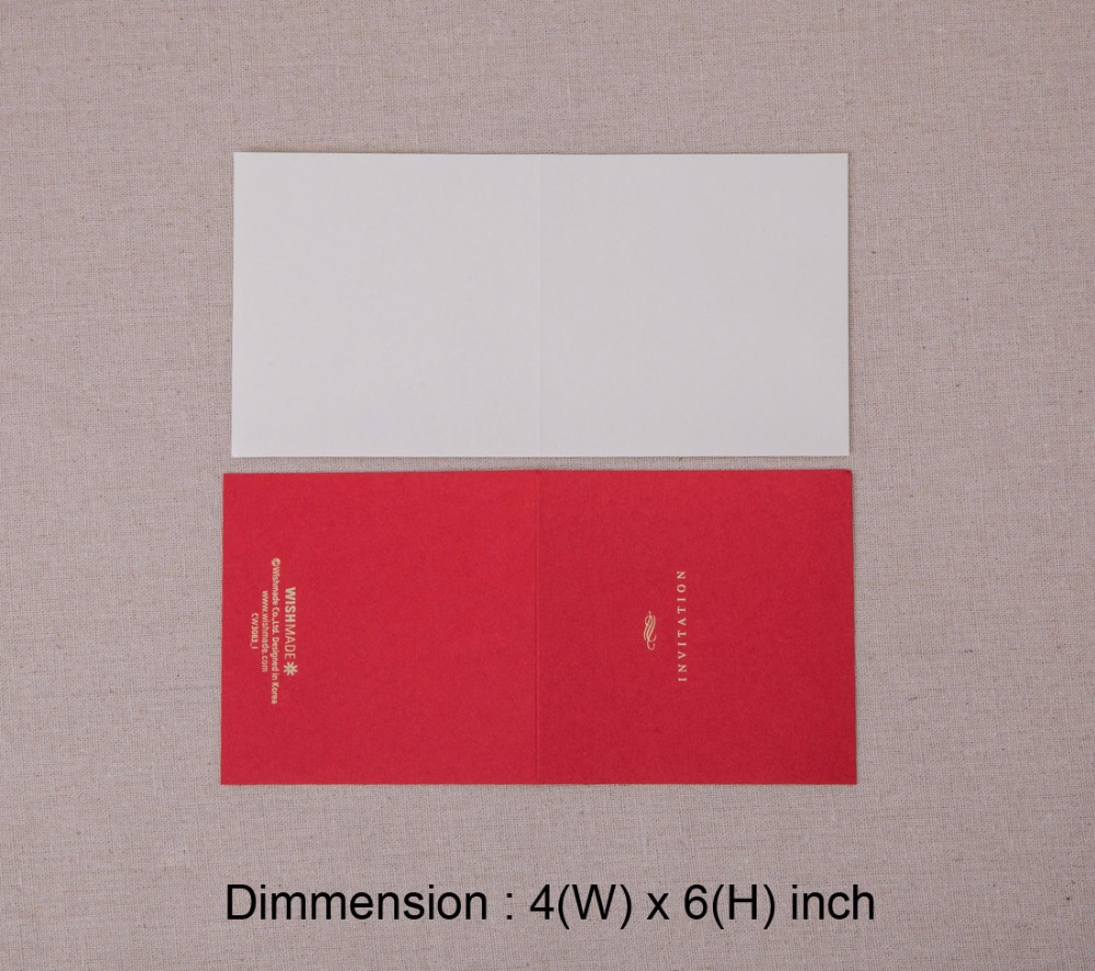 50PCS 3D Wedding Invitations Luxurious Vintage White Red Palace ...