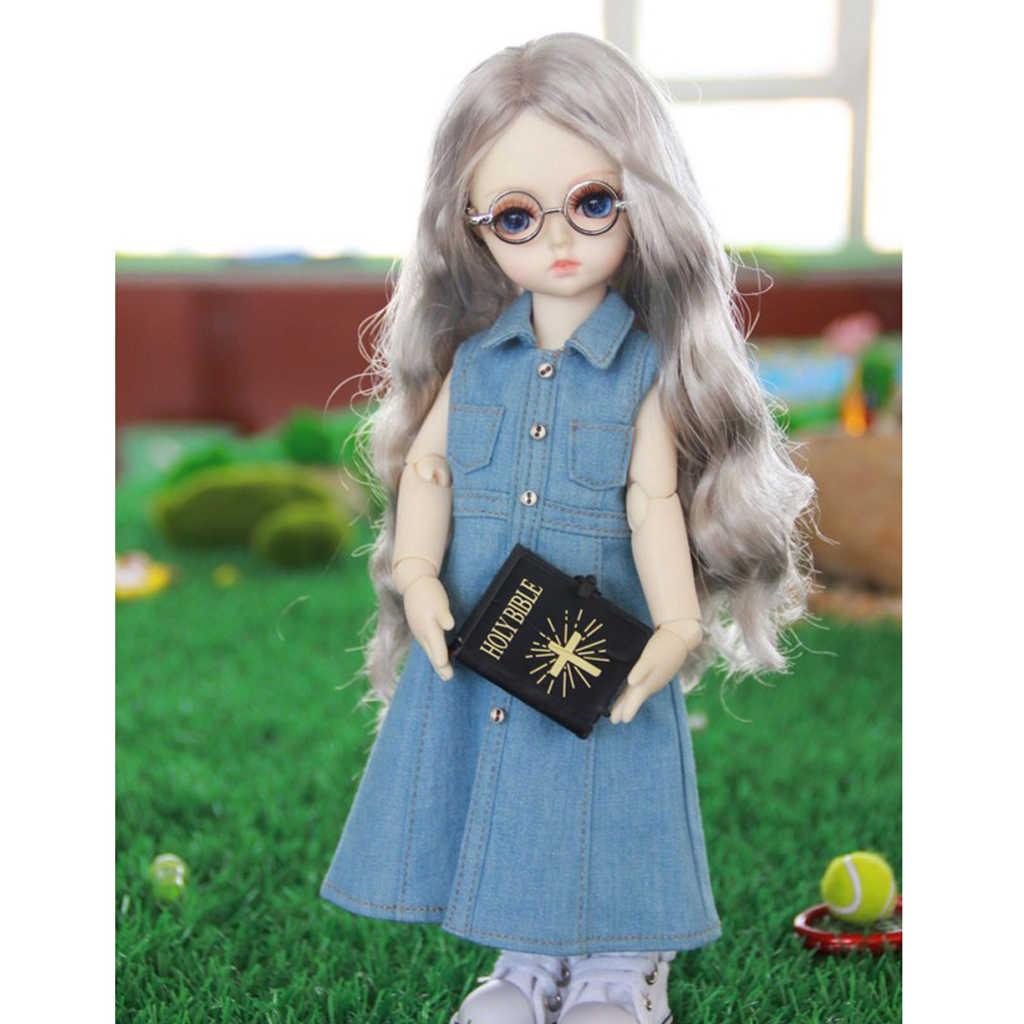 Повседневная джинсовая юбка без рукавов, джинсовое платье для 1/3 BJD MSD YOSD DOA Dolls светло-голубого цвета
