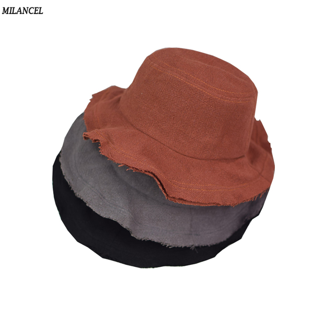 2af061047e61 2018 Summer Baby Sun Hat Infant Boys Girls Bucket Hat Linen Cotton Toddler  Kids Tractor Cap