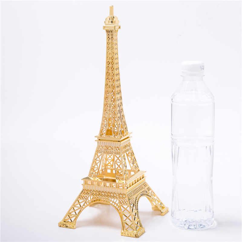 Gold Eiffel Tower Decor Zinc Alloy Home