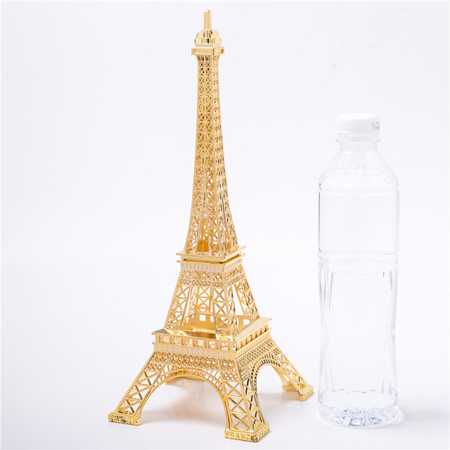 Gold Eiffel Tower Decor Zinc Alloy Home Decoration Improvement Gift Decorative Wine Cabinet
